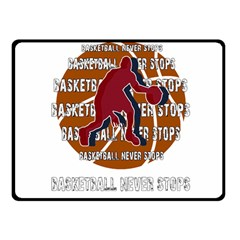 Basketball Never Stops Fleece Blanket (small) by Valentinaart