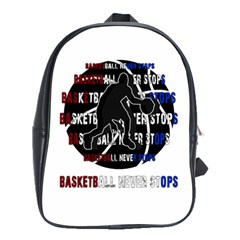 Basketball Never Stops School Bags (xl)  by Valentinaart