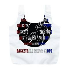 Basketball Never Stops Full Print Recycle Bags (l)