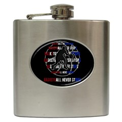 Basketball Never Stops Hip Flask (6 Oz) by Valentinaart