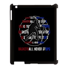 Basketball Never Stops Apple Ipad 3/4 Case (black) by Valentinaart