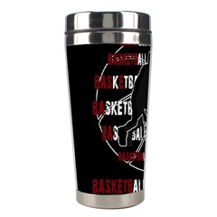 Basketball Never Stops Stainless Steel Travel Tumblers by Valentinaart