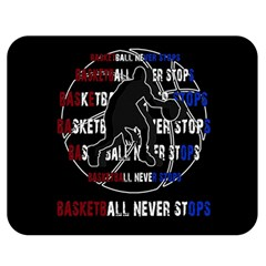 Basketball Never Stops Double Sided Flano Blanket (medium)  by Valentinaart