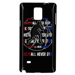 Basketball Never Stops Samsung Galaxy Note 4 Case (black) by Valentinaart