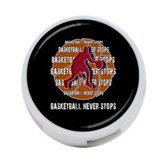 Basketball Never Stops 4 Port Usb Hub (one Side) by Valentinaart