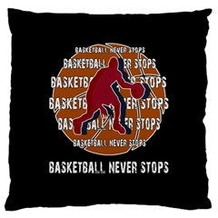 Basketball Never Stops Standard Flano Cushion Case (two Sides) by Valentinaart