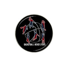 Basketball Never Stops Hat Clip Ball Marker (4 Pack) by Valentinaart