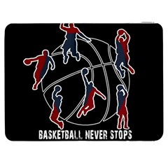 Basketball Never Stops Samsung Galaxy Tab 7  P1000 Flip Case by Valentinaart