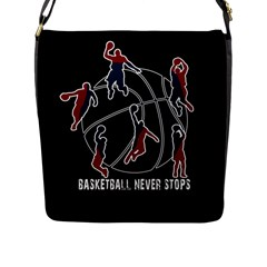 Basketball Never Stops Flap Messenger Bag (l)  by Valentinaart