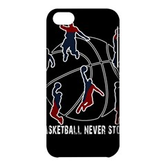 Basketball Never Stops Apple Iphone 5c Hardshell Case by Valentinaart