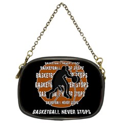 Basketball Never Stops Chain Purses (two Sides)  by Valentinaart