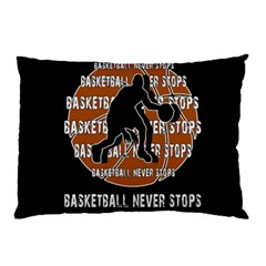 Basketball Never Stops Pillow Case by Valentinaart