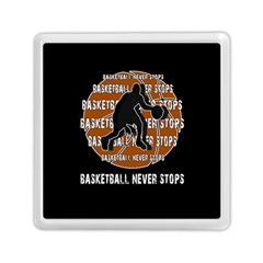 Basketball Never Stops Memory Card Reader (square)  by Valentinaart