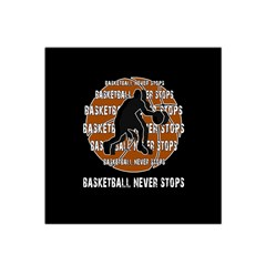 Basketball Never Stops Satin Bandana Scarf by Valentinaart