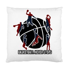 Basketball Never Stops Standard Cushion Case (one Side) by Valentinaart