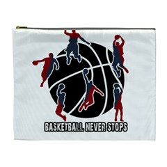 Basketball Never Stops Cosmetic Bag (xl) by Valentinaart