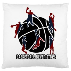 Basketball Never Stops Standard Flano Cushion Case (one Side) by Valentinaart