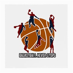 Basketball Never Stops Medium Glasses Cloth (2 Side)