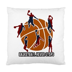 Basketball Never Stops Standard Cushion Case (two Sides) by Valentinaart