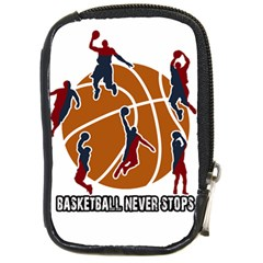 Basketball Never Stops Compact Camera Cases by Valentinaart