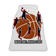 Basketball Never Stops Bell Ornament (two Sides) by Valentinaart