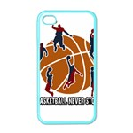 Basketball never stops Apple iPhone 4 Case (Color) Front