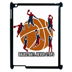 Basketball Never Stops Apple Ipad 2 Case (black)