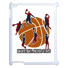 Basketball Never Stops Apple Ipad 2 Case (white) by Valentinaart