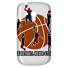 Basketball Never Stops Galaxy S3 Mini by Valentinaart
