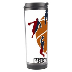 Basketball Never Stops Travel Tumbler by Valentinaart