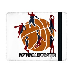 Basketball Never Stops Samsung Galaxy Tab Pro 8 4  Flip Case by Valentinaart