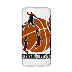 Basketball Never Stops Apple Iphone 6/6s Hardshell Case by Valentinaart