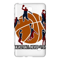 Basketball Never Stops Samsung Galaxy Tab 4 (8 ) Hardshell Case  by Valentinaart