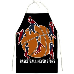 Basketball Never Stops Full Print Aprons by Valentinaart