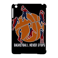 Basketball Never Stops Apple Ipad Mini Hardshell Case (compatible With Smart Cover) by Valentinaart