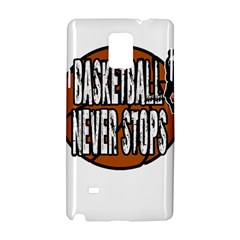 Basketball Never Stops Samsung Galaxy Note 4 Hardshell Case by Valentinaart