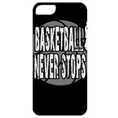 Basketball Never Stops Apple Iphone 5 Classic Hardshell Case by Valentinaart