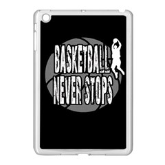 Basketball Never Stops Apple Ipad Mini Case (white) by Valentinaart
