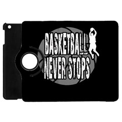 Basketball Never Stops Apple Ipad Mini Flip 360 Case by Valentinaart