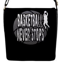 Basketball Never Stops Flap Messenger Bag (s) by Valentinaart