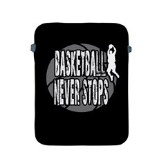 Basketball Never Stops Apple Ipad 2/3/4 Protective Soft Cases by Valentinaart