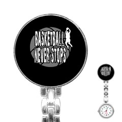 Basketball Never Stops Stainless Steel Nurses Watch