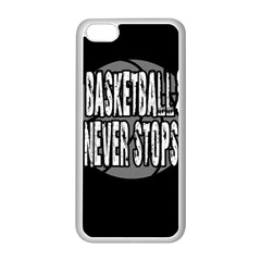 Basketball Never Stops Apple Iphone 5c Seamless Case (white) by Valentinaart