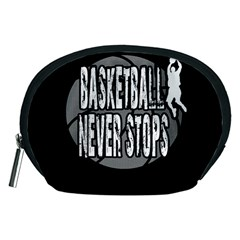 Basketball Never Stops Accessory Pouches (medium)  by Valentinaart