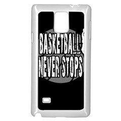 Basketball Never Stops Samsung Galaxy Note 4 Case (white) by Valentinaart