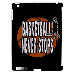 Basketball Never Stops Apple Ipad 3/4 Hardshell Case (compatible With Smart Cover) by Valentinaart