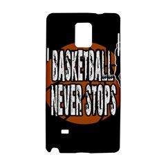 Basketball Never Stops Samsung Galaxy Note 4 Hardshell Case