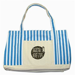 Basketball Never Stops Striped Blue Tote Bag by Valentinaart