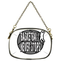 Basketball Never Stops Chain Purses (one Side)  by Valentinaart