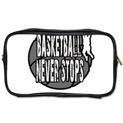 Basketball Never Stops Toiletries Bags 2 Side by Valentinaart